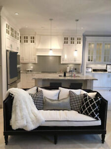 white and black sofa from Jordans Home
