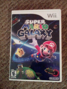 Super mario galaxy for the wii nintendo