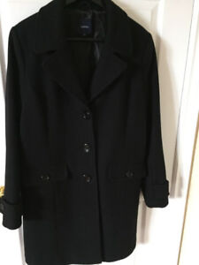 Size 13 Black Wool Coat,great for Fall or Winter,Women's