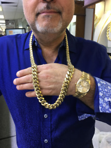 10K Solid Gold Miami Cuban Link Chain