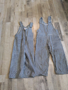Kids Overalls.  Size 6 and 4