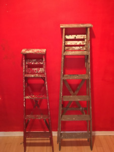 Retro wooden painter step ladders, $100 or best offer