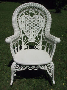 White Wicker Patio furniture WANTED