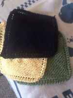 HAND KNITTED DISH CLOTHS