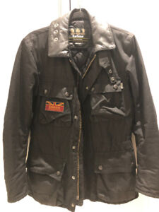 Barbour Jacket - Waxed Insulated Moto Size Small