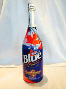 Labatt Blue champagne bottle