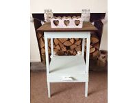 Duck egg blue console, side table