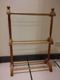 Wooden Victorian Style Towel Rail