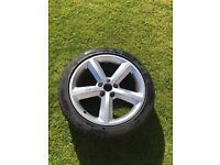 """Audi 18"""" alloy and tyre"""