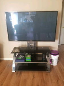 """55"""" flat screen tv with stand"""