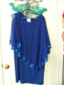 Womens Dress, Size 20, Royal Blue with Bling Beading, BRAND NEW