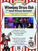 Winnipeg Circus Club 7th Annual Showcase & Variety Show!