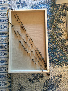 Stella & Dot Madeline Pearl Necklace Gold/Brown (Retired)