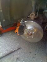 80 dollar brake pad and rotor installation by certified technici