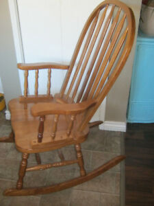 Solid wood rocking chair - very good condition - $35