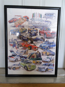 TORONTO AUTOSHOW 25TH ANNIVERSARY FRAMED PRINT COLLECTIBLE