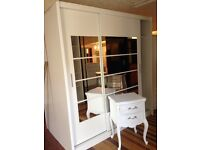 Slide robe sale white wall nut black beech with mirrors great storage