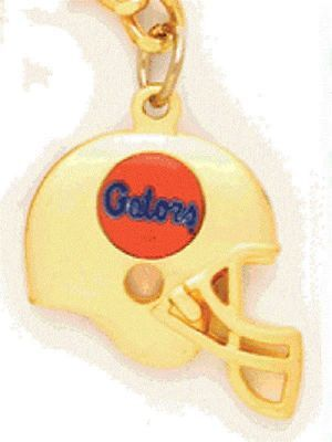 Florida Gators Necklace - 3D Gold Football Helmet Charm - NCAA Licensed Jewelry