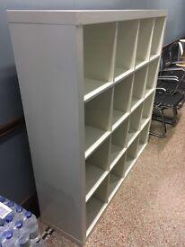 White Ikea Kallax. 4x 4 storage unit