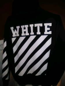 OFF WHTE hoodie ( small ) black..