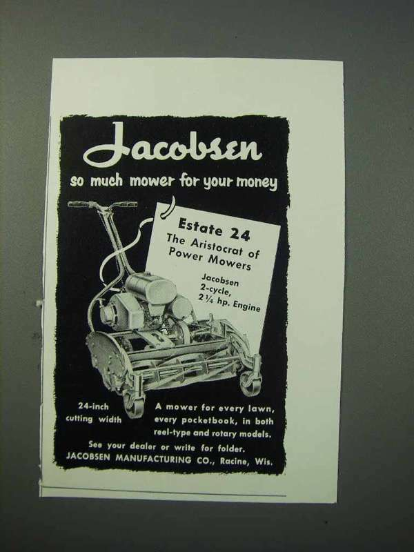 1953 Jacobsen Estate 24 Lawn Mower Ad - So Much