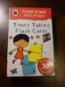 Time Tables Flash Cards by Homework Helpers