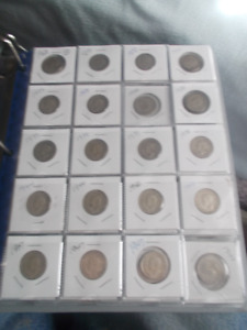 300 CANADA PENNIES AND NICKLES FROM 1911 to 1967 CIRCULATED COIN