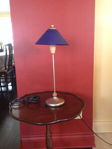 REDUCED!! Blue frosted glass lamp