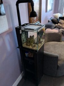 10 gallon all in one saltwater reef tank..