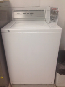 Coin operated whirlpool laudry washing machine
