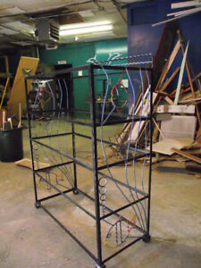 Locally  made  'Fish' inspired welded shelving unit