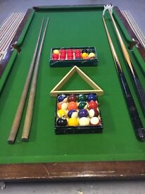 Antique slate bed snooker table top
