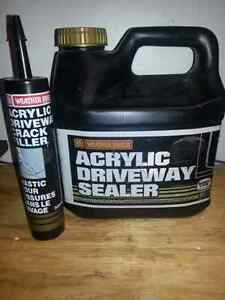 Driveway sealer and crack filler