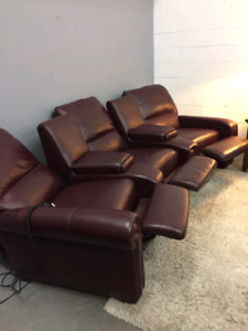 Free delivery: Movie theatre power recliner sectional.