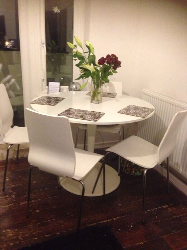 Ikea docksta table 4 chairs in norwich norfolk gumtree for Docksta dining table
