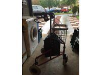 Z- Tec Folding 3 Wheel walker