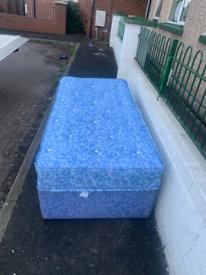 Single divan bed with a waterproof mattress £79
