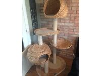 Paradise Banana Leaf Cat Tree Bamboo Tower Huge Great Condition