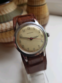 Mens quality garrard ww2 military style stainless watch not ATP