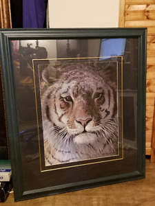 ROBERT BATEMAN TIGER AT DUSK 1998 IN BEAUTIFUL FRAME
