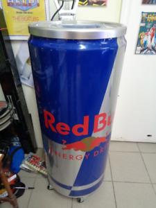 REDBULL stand up large cooler red bull energy drink fridge