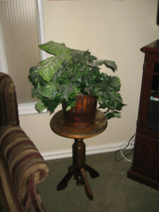 Artificial plant and wood stand