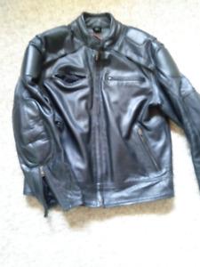 Mens XL CMC Leather Motorcycle (Cruiser) Jacket