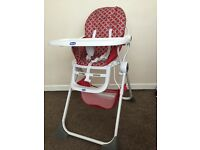 Highchair for sale practically brand new