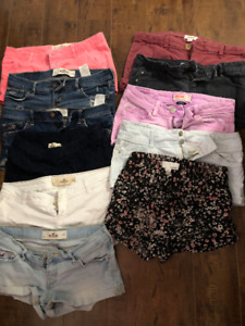 Women's Shorts - Hollister and Garage size 0-1