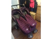 City mini double buggy with carrycot