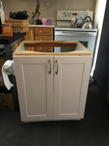 BATHROOM CABINET - WHITE - LIKE NEW - WITH LOCKABLE DRAWER