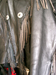 Classic fringed bikers jacket  recycledgear.ca Kawartha Lakes Peterborough Area image 5