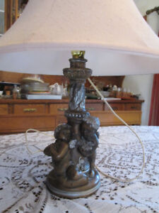 Large Cherub/Angel Table Lamp with Shade