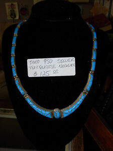 Vintage Taxco 950 Silver & Turquoise Necklace Cambridge Kitchener Area image 1